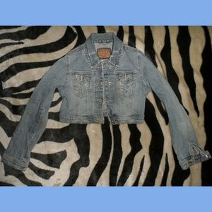Plain Blue Jean Jacket Limited Too